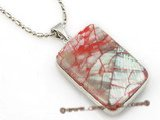 sp129 Wholesale 20*30mm pattern mother of pearl shell pendant necklace