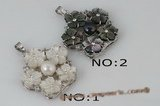 sp135 Trendy 40mm cluster flower mother of pearl shell pendant