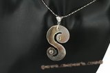 sp141 Trendy s shape mother of pearl shell pendant necklace