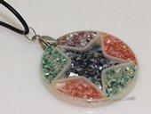 sp166  46mm big star design mother of pearl shell pendant