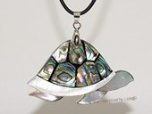 sp172 Lovely turtoise design  mother of pearl shell pendant
