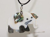 sp173 Lovely elephant design  mother of pearl shell pendant