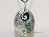 sp174  39*50mm  mother of pearl shell pendant