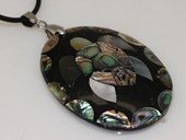 sp175   40*53mm turtoise design mother of pearl shell pendant