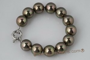 spbr009 Charmming 12mm round shell pearl bracelet in low price