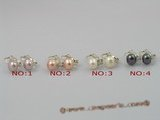 spe009 Adorable 8-8.5mm pearls set on sterling tray CLIP Earrings