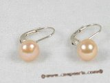 spe079 Sterling silver hoop Earring with pink bread pearl
