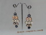 spe126 Sterling silver multicolor pearl Chandelier earrings