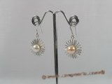 spe141 Sterling Silver cultured pearl dangle earrings