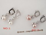 spe167 wholesale sterling square studs earring with 7.5-8mm bread pearl
