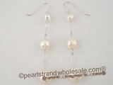 spe171 Tin Cup White Pearl sterling silver dangle earrings