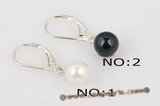 spe316 7-8mm Round Pearl French Clip Leverback Earrings