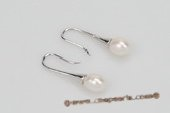 spe360 Fancy 6-7mm Rice shape Pearl Horn Dangle Earrings