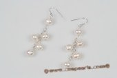 Spe424 Hand Crafted Sterling Silver Cultured pearl Pierce Earrings