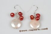 Spe425 Popular Potato Pearl and Coin Pearl 925Silver Hook Earrings