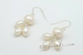 Spe434 New Style Rice Pearl and Potato Pearls Hook Earrings