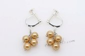 Spe439  Sterling Silver Non-pierce Screwback Dangle Earrings with Shell Pearl