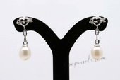 Spe445 6-7mm White Rice Shape Pearl Love Stud Earrings