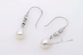 Spe452 8-9mm Large Rice pearl Hook Dangle Earrings Wholesale