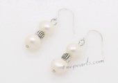 Spe477 Fancy Potato Pearl Dangle Sterling Silver Hook Earrings with