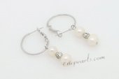 Spe484 Fancy Cultured Potato Pearl Silver Toned Hoop Earrings