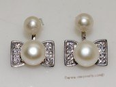spe562  Sterling Silver Freshwater Pearl  Earrings With Sterling Fitting