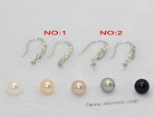 Spe616 7-7.5mm Round Pearl Hook Dangle Earrings Wholesale