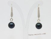 Spe618 7-7.5mm Round Pearl Hook Dangle Earrings Wholesale