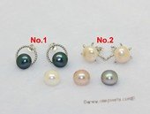 spe625 sterling silver 8.5-9mm freshwater bread pearl stud earring on sale