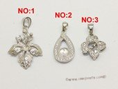 spm043 Five pieces sterling silver inserting pendant mounting on sale