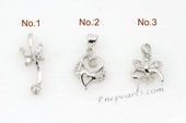 spm045 wholesale 925 sterling silver pearl pendant mounting(five pieces)