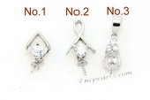 spm049 Five pieces designer pendant mountings in 925 sterling silver