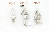 spm060 Five pieces 925 sterling silver designer pendant mountings in wholesale