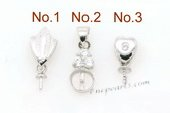 spm061 wholesale 925 sterling silver designer pendant mountings in  Five pieces