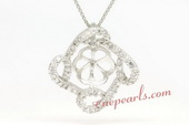 spm077 Designer flower pendant mounting in sterling silver