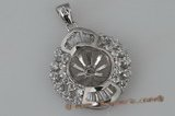 spm078 Dazzling blooming flower 925silver pendant mounting
