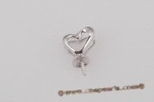 Spm082 18K White Gold Heart Shape Pendant Mounting