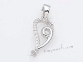 Spm183 Sterling Silver Pendant Mounting For Jewelry Marking