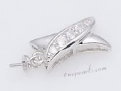 Spm184 Sterling Silver Sparkling Zircon Pendant Mounting For Jewelry Marking