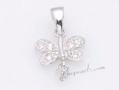 Spm186 Sterling Silver Dragonfly Design Pendant Tail For Pendant Marking