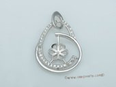spm191 Newest Sterling Silver Pendant Tail For Pendant Marking
