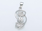 spm193 Newest Sterling Silver Pendant Tail For Pendant Marking