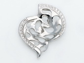 spm196 Newest Sterling Silver Pendant Tail For Pendant Marking