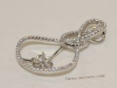 spm228 Infinity Calabash Flower Cubic Zircon 925 Sterling Silver  Pendant Mounting