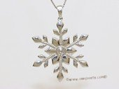 spm295 Sterling Silver Snow Flower Pendant Mounting For Jewelry Marking