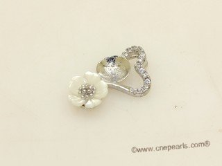spm299 Sterling Silver Sparkling Zircon Pendant Mounting For Jewelry Marking