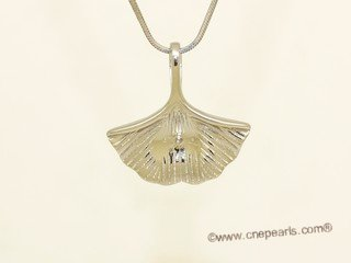 spm300 Sterling Silver Fan Design Pendant Mounting For Jewelry Marking