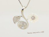 spm303 Sterling Silver Flower Design Pendant Mounting For Jewelry Marking