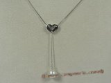 spp042  18inch sterling silver box chain Chain Lariat with 8-9mm tear-drop pearl drop necklace