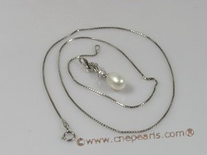 spp045 sterling silver pearl pendant with tear-drop pearls